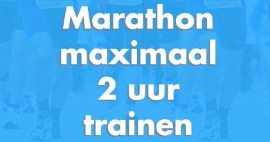 Een marathon uitlopen met minder training!