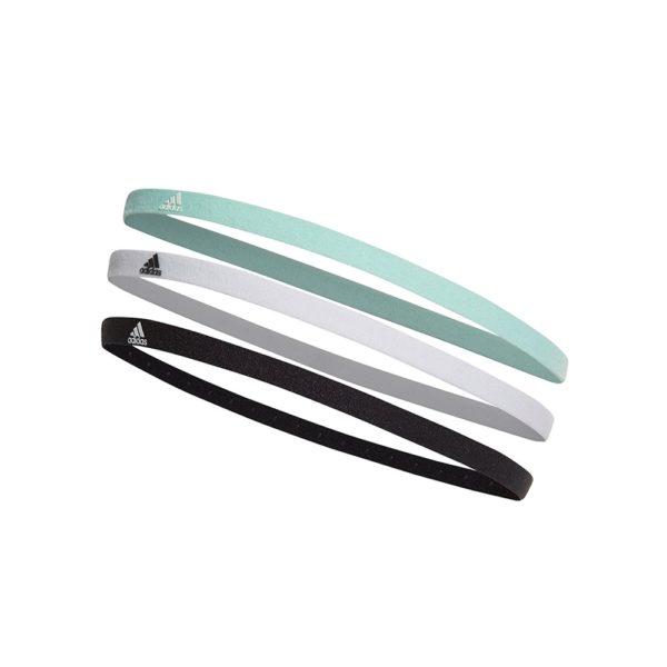 Adidas 3-pack haarbanden unisex zwart/wit/groen