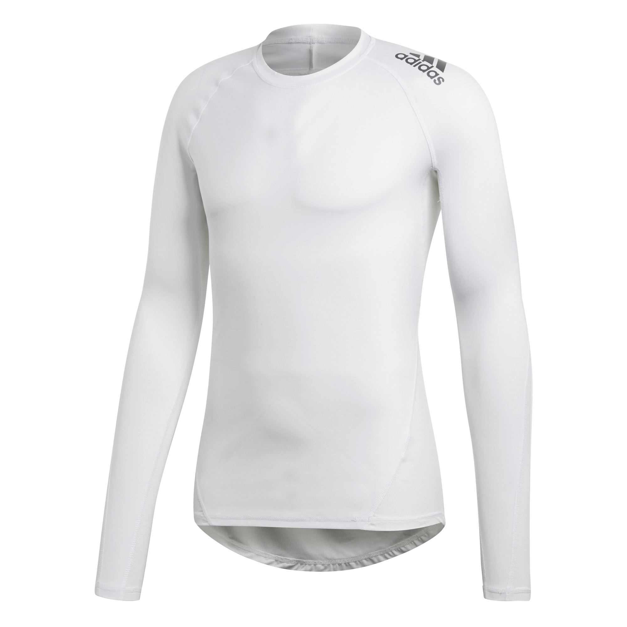 super popular 65649 5b2fd Adidas Alphaskin LS thermoshirt heren wit