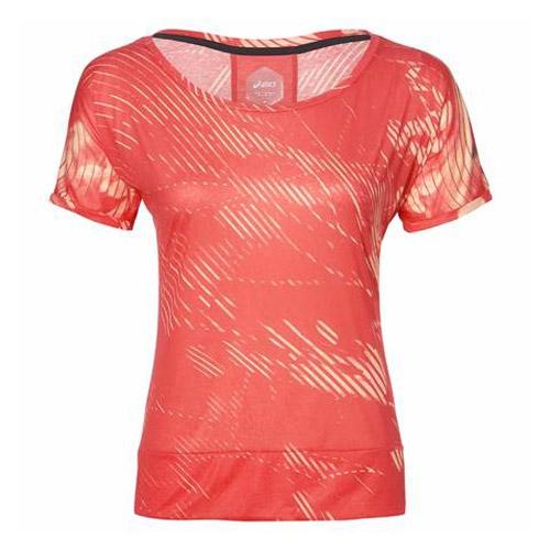 Asics Crop shirt dames oranje