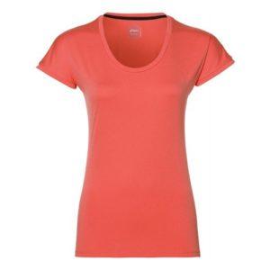 Asics S S hardloopshirt dames oranje