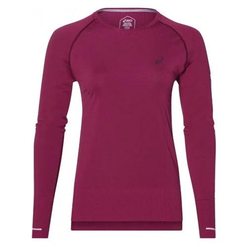 Asics Seamless LS hardloopshirt dames bordeaux