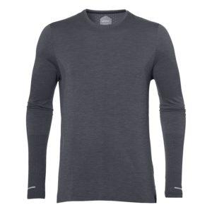Asics Seamless LS hardloopshirt heren donker grijs