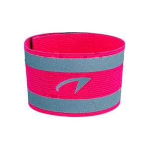 Avento reflective elastische arm band roze