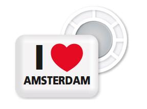 BibBits Startnummer Magneetjes I Love Amsterdam
