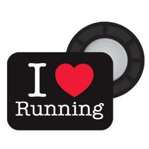 BibBits Startnummer Magneetjes I Love Running