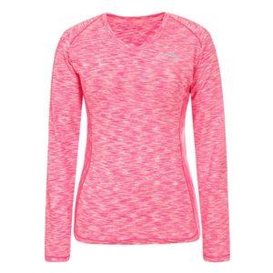 Li-Ning Gwyneth LS hardloopshirt dames roze/melange