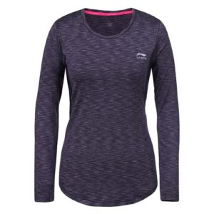 Li-Ning Haven LS shirt dames antraciet melange