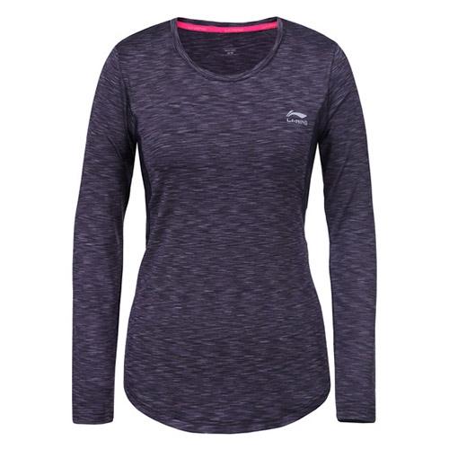 Li-Ning Haven LS shirt dames antraciet melange