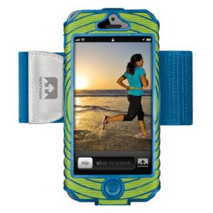 Nathan SonicBoom iPhone5 houder groen/blauw