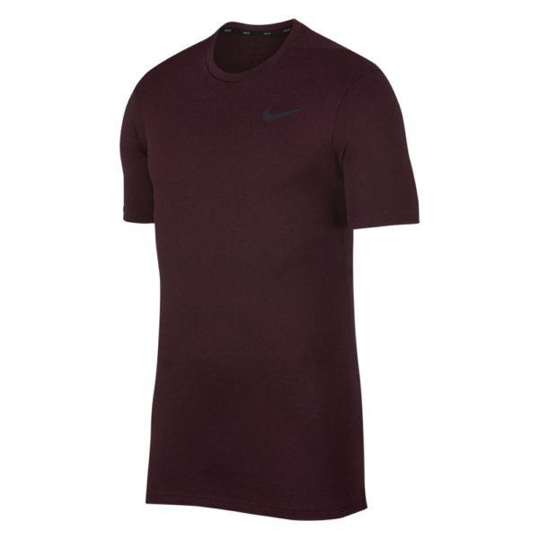 Nike Breathe shirt heren bordeaux rood/zwart
