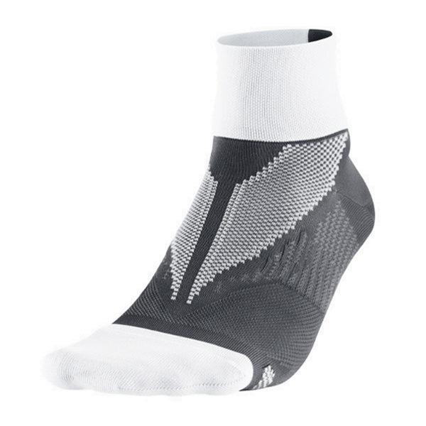 Nike Elite Hyper-Lite hardloopsokken unisex antraciet/wit halfhoog