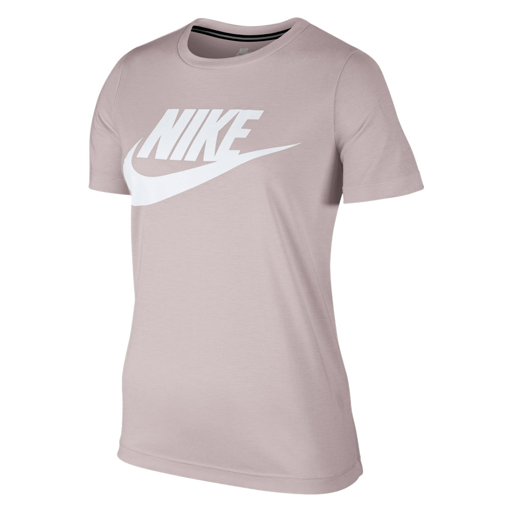 Nike Essential shirt dames licht roze/wit