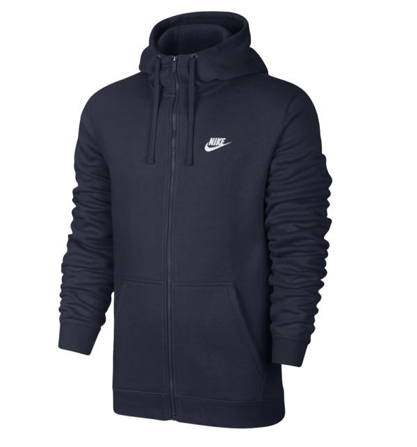 Nike FT Club Fleece vest heren marine