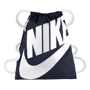 Nike Heritage nylon tasje marine/wit