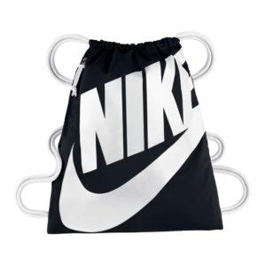 Nike Heritage nylon tasje zwart/wit
