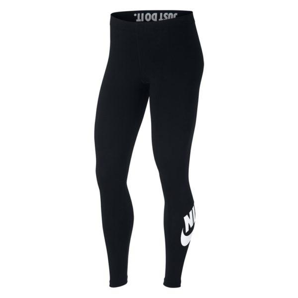 Nike Legging Leg-a-See Logo tight dames zwart/wit