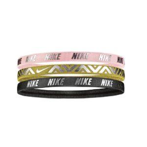 Nike Metallic 3-pack haarbanden unisex roze/goud/zwart