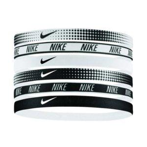 Nike Printed elastische haarbanden 6 stuks zwart/wit