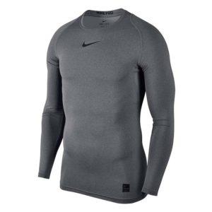 Nike Pro Cool Compressie LS heren thermoshirt grijs