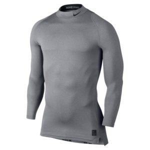 Nike Pro Cool Compression LS Mock thermoshirt heren grijs