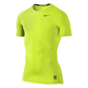 Nike Pro Cool Compression SS thermoshirt heren geel