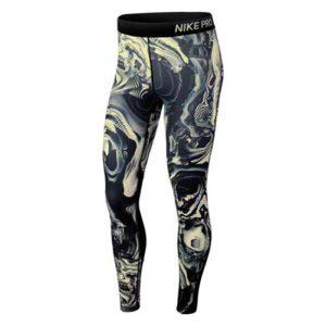 Nike Pro Coral Print tight dames zwart/geel