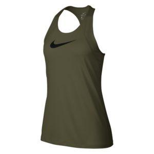 Nike Pro tanktop dames olijf/zwart