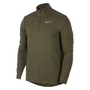 Nike Therma Sphere Element hardloopsweater heren olijf groen