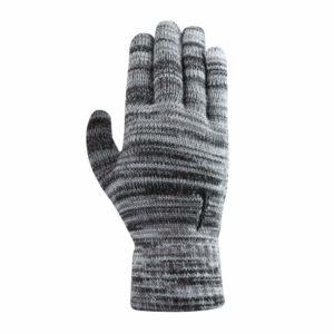 Nike gebreide grip smartphone-touch handschoenen grijs