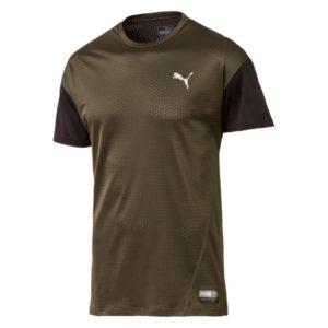 Puma ACE SS shirt heren donker groen/zwart