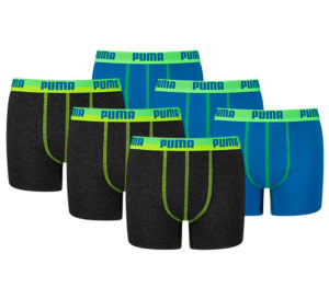 Puma Color Block Boxershorts Junior (6-pack)