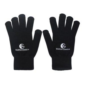 Voetbal-Geest smartphone-touch handschoenen zwart
