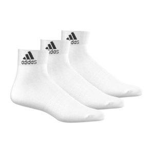 adidas 3-pack half hoge sokken wit
