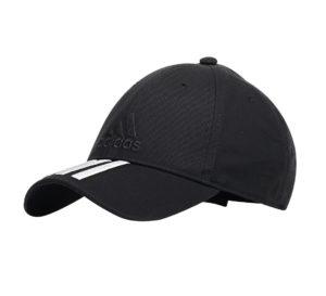 adidas 3-stripes Classic cap zwart/wit