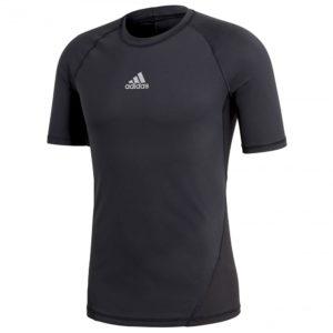 adidas AlphaSkin SS thermoshirt heren zwart