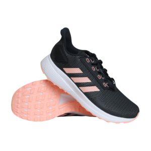 adidas Duramo 9 hardloopschoenen dames zwart/licht roze
