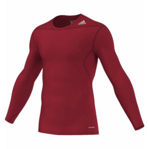 adidas Techfit Base LS thermoshirt heren rood