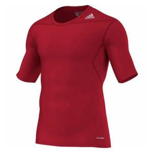 adidas Techfit Base SS thermoshirt heren rood