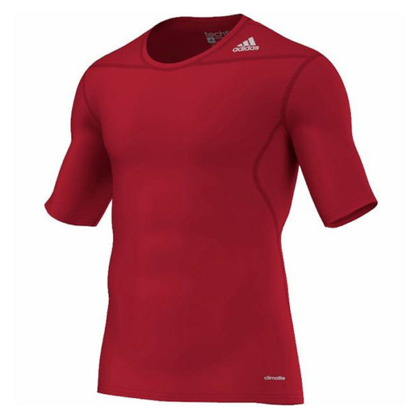 adidas Techfit Base SS thermoshirt heren rood